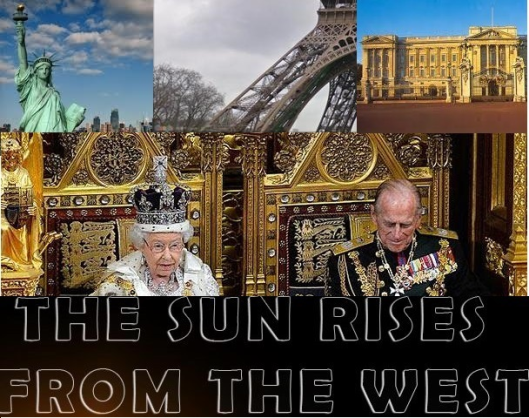 The sun rises from the west